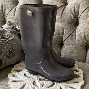 UGG Rain Snow Rubber Tall Boots Women's 7 Worn 1X